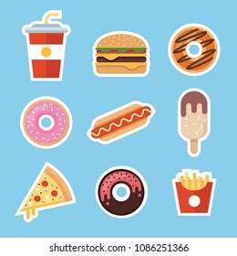junkfood flat vector isolated