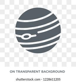 Jupiter icon. Jupiter design concept from Astronomy collection. Simple element vector illustration on transparent background.
