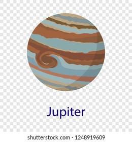 Jupiter planet icon. Flat illustration of jupiter planet vector icon