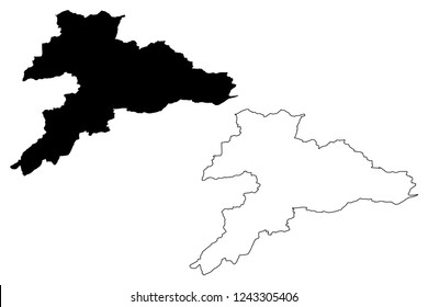 Jura (Cantons of Switzerland, Swiss cantons, Swiss Confederation) map vector illustration, scribble sketch Republic and Canton of the Jura map