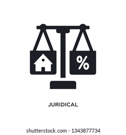 juridical isolated icon. simple element illustration from real estate concept icons. juridical editable logo sign symbol design on white background. can be use for web and mobile