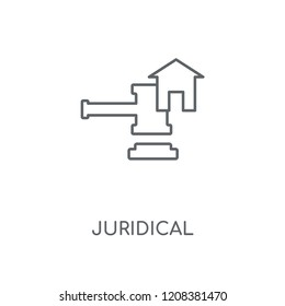 Juridical linear icon. Juridical concept stroke symbol design. Thin graphic elements vector illustration, outline pattern on a white background, eps 10.