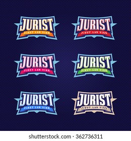 Jurist, lawyer full typography, t-shirt graphics, vectors