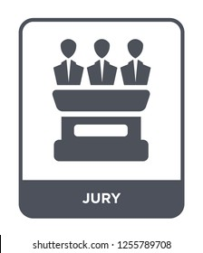 jury icon vector on white background, jury trendy filled icons from Law and justice collection, jury simple element illustration