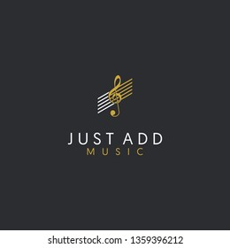 Just Add Music Logo_Music Logo Icon_Music Icon_Vector