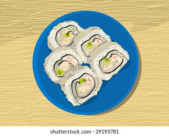 just a californian rolls (editable layers)