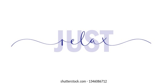 JUST RELAX colorful typography banner