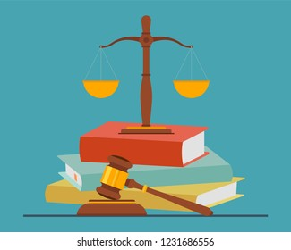 Justice concept, law and justice concept. Vector illustration.