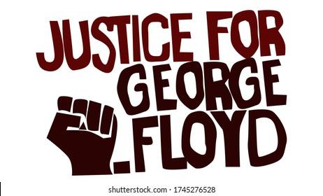 justice for george floyd stencil vector illustration