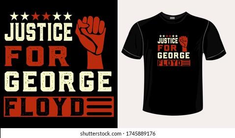 justice for george floyd tshirt design-t-shirt design vector