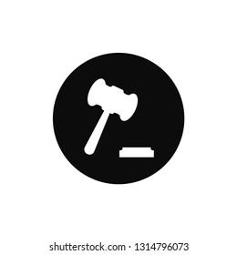Justice hammer icon