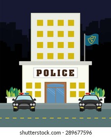justice icon design over city background, vector illustration