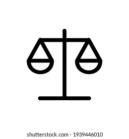 Justice icon or logo isolated sign symbol vector illustration - high quality black style vector icons