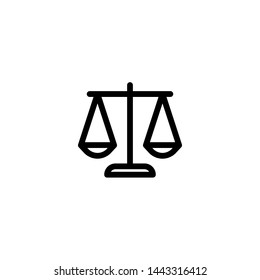 justice icon sign signifier vector