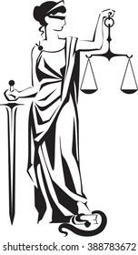 Justice lady Femida Themis