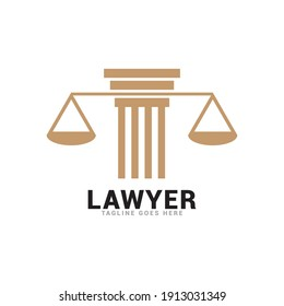 justice law legal logo icon vector template.