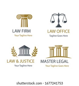 Justice and legal icons vector.