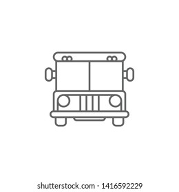 Justice prison bus outline icon. Elements of Law illustration line icon. Signs, symbols and vectors can be used for web, logo, mobile app, UI, UX