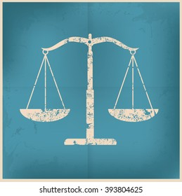 Justice scale design on old background,vector