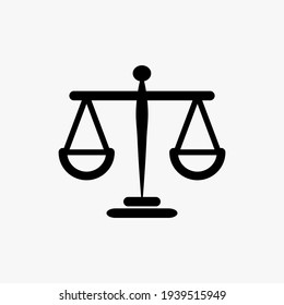 Justice scale icon. White background. Grading pictogram scale Vector illustration.