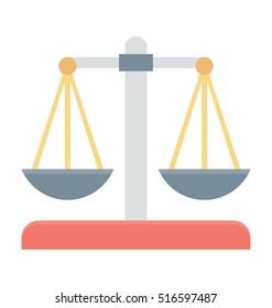 Justice Scale Vector Icon
