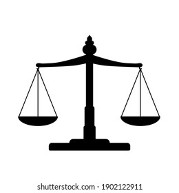 justice scale vector illustration. Good template for justice design.