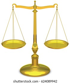Justice scales (vector)