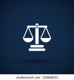 justice vector icon vector symbol measurement balance