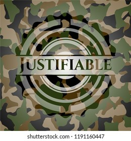 Justifiable on camo texture