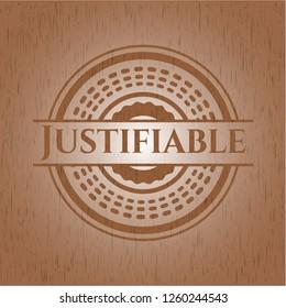 Justifiable retro style wood emblem