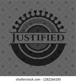 Justified dark badge