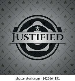 Justified dark icon or emblem. Vector Illustration. Detailed.