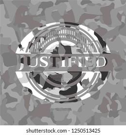 Justified grey camo emblem