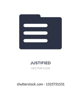 justified icon on white background. Simple element illustration from UI concept. justified sign icon symbol design.