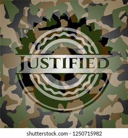 Justified on camo pattern