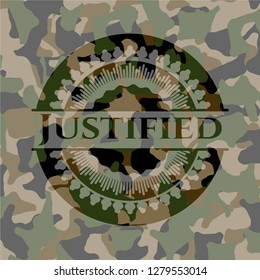 Justified on camo texture