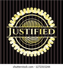 Justified shiny badge