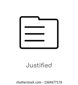 justified vector line icon. Simple element illustration. justified outline icon from user interface concept. Can be used for web and mobile
