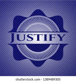 Justify with jean texture. Vector Illustration. Detailed.