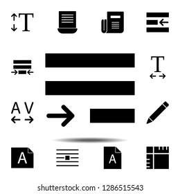 justify text icon. Simple glyph, flat vector of Text editor set icons for UI and UX, website or mobile application