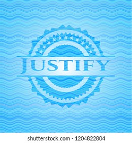 Justify water badge background.
