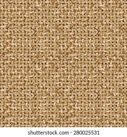Jute fabric vector seamless pattern