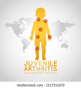 Juvenile Arthritis Awareness Month vector logo icon illustration