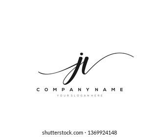 JV handwriting initial  logo vector
