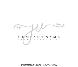 JV Initial handwriting logo vector