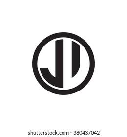 JV initial letters circle monogram logo