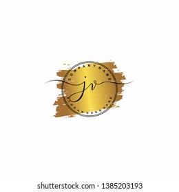 JV Initial luxury handwriting logo vector