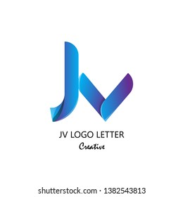 jv j v circle lowercase design of alphabet letter combination with infinity suitable as logo for a company or corporate business template design - Vector
