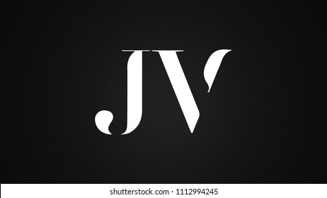JV Letter Logo Design Template Vector