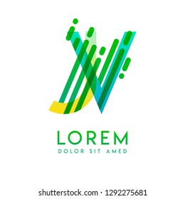 JV logo with the theme of galaxy speed and style that is suitable for creative and business industries. VJ Letter Logo design for all webpage media and mobile, simple, modern and colorful